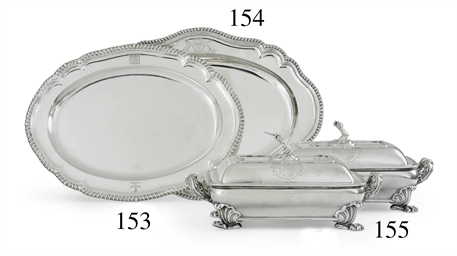 A GEORGE III SILVER MEAT DISH