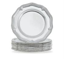 A FINE SET OF TWELVE GEORGE II SILVER DINNER PLATES