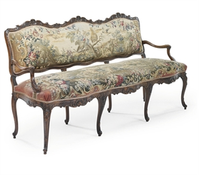 A LOUIS XV BEECHWOOD AND TAPES