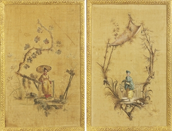A PAIR OF EUROPEAN CHINOISERIE