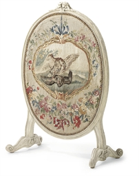 A LATE LOUIS XV CARVED, GREY-P