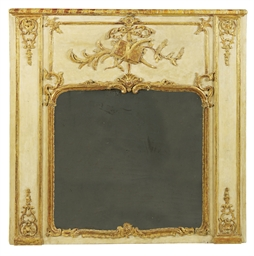 AN EARLY LOUIS XV CREAM-PAINTE