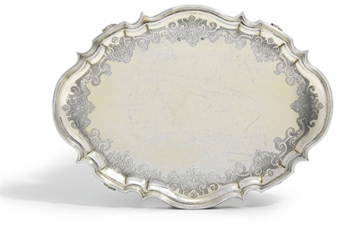 A GERMAN SILVER-GILT SALVER