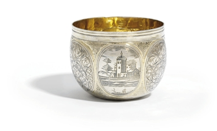 A GERMAN SILVER-GILT TUMBLER-C