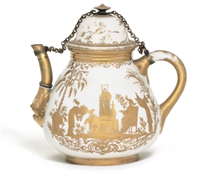 A MEISSEN GILT-METAL MOUNTED G