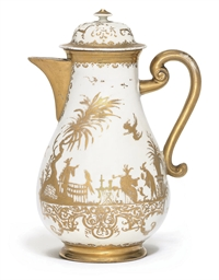 A MEISSEN GOLDCHINESEN BALUSTE