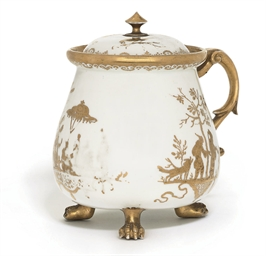 A MEISSEN GOLDCHINESEN CREAM-P