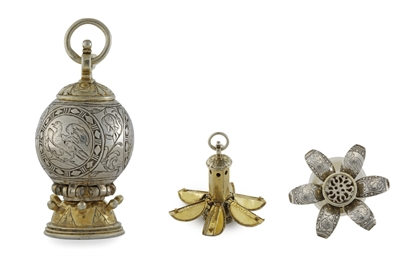 A GERMAN PARCEL-GILT SILVER PO