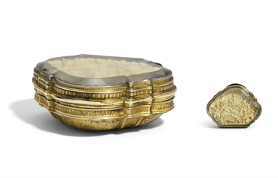 A GERMAN SILVER-GILT SNUFF-BOX