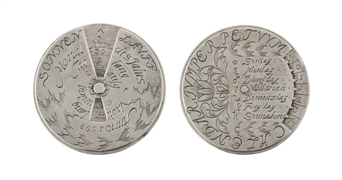 A GERMAN SILVER PERPETUAL CALE