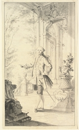 An elegant gentleman, standing