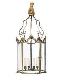 A FRENCH ORMOLU LANTERN
