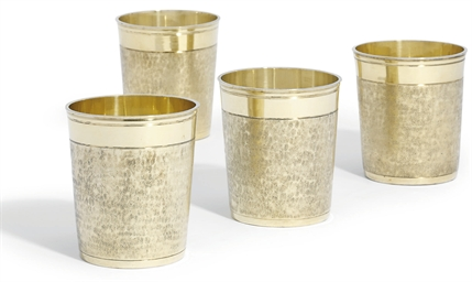 FOUR GERMAN SILVER-GILT BEAKER