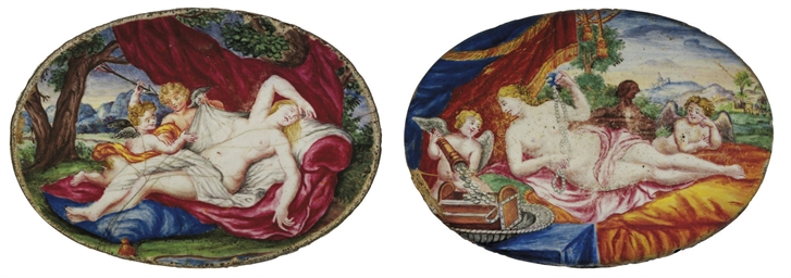 TWO GERMAN ENAMEL PLAQUES