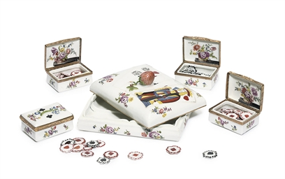 A MEISSEN GAMING-SET