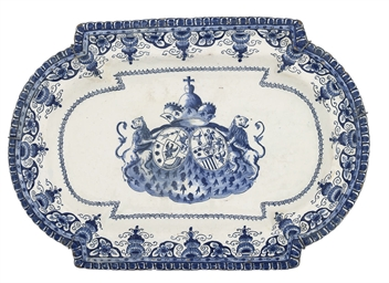 A BALTIC FAIENCE BLUE AND WHIT