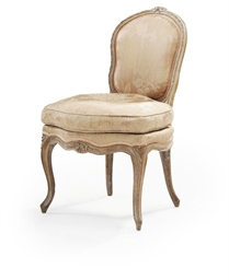 A LOUIS XV BEECHWOOD CHAISE A