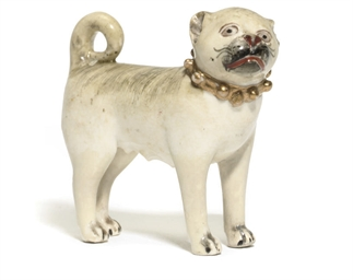 A DERBY MODEL OF A PUG BITCH