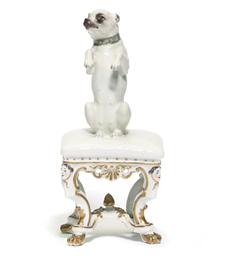 A MEISSEN DATED MODEL OF A HOU