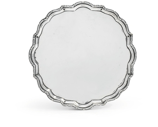 A GERMAN SILVER SALVER