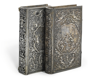 TWO GERMAN SILVER-BOUND PSALTE