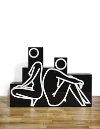 Crouching Woman, Sitting Man