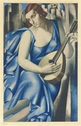 Woman with Mandolin (Blondel A