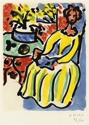 Marie-José en robe jaune (D. 8
