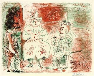 L'Ecuyère et les clowns (B. 84