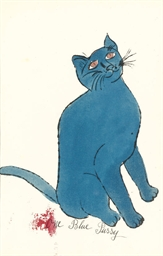One Blue Pussy, from 25 Cats N