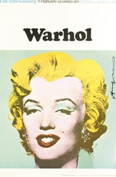 Exhibition poster for Warhol: