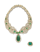 A GROUP OF EMERALD AND DIAMOND JEWELLERY, BY REPOSSI