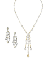 A SUITE OF DIAMOND JEWELLERY,