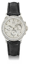 Corum A fine and rare platinum and diamond-set automatic wri