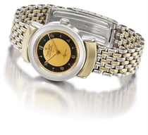 Rolex An extremely fine and rare stainless steel and gold au