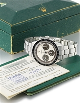 Rolex A fine and rare stainless steel chronograph wristwatch