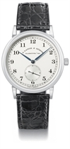A Lange & Söhne A fine platinum wristwatch