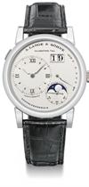 A Lange & Söhne A fine platinum twin barrel wristwatch with