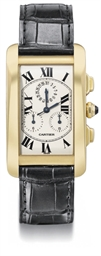 Cartier. A large 18K gold rect