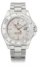 Rolex. A stainless steel and p