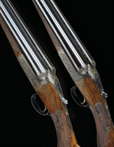 A PAIR OF 12-BORE PATENT SINGLE-TRIGGER DROP LOCK BOXLOCK EJECTOR GUNS BY WESTLEY RICHARDS, NOS. 16386 7