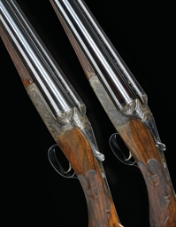 A PAIR OF 12-BORE PATENT SINGL