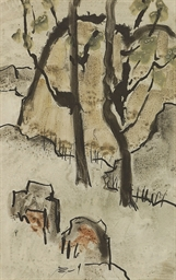 Untitled (Landscape with Trees
