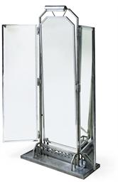 A CHROMIUM PLATED THREE-FOLD F