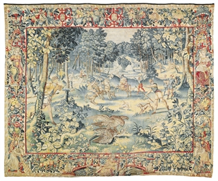 A FLEMISH GAMEPARK TAPESTRY