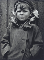 Girl with pigtails, Kontula, Helsinki, 1967