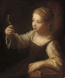 A girl with a finch