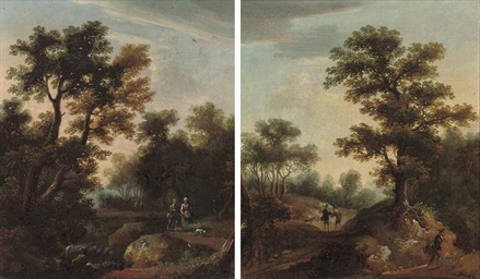 An Italianate wooded landscape