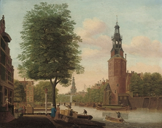 The Oude Schans canal with the