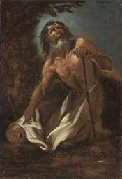 A hermit saint with a tau-cros